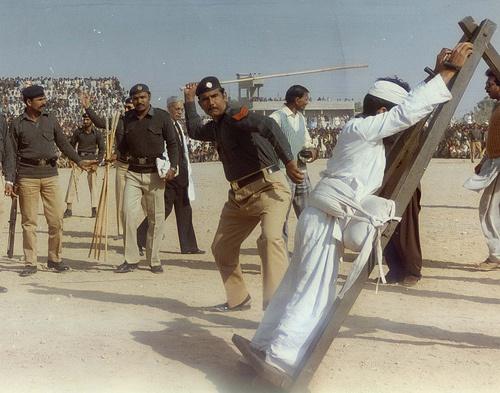 Auspeitschen in Saudi-Arabien