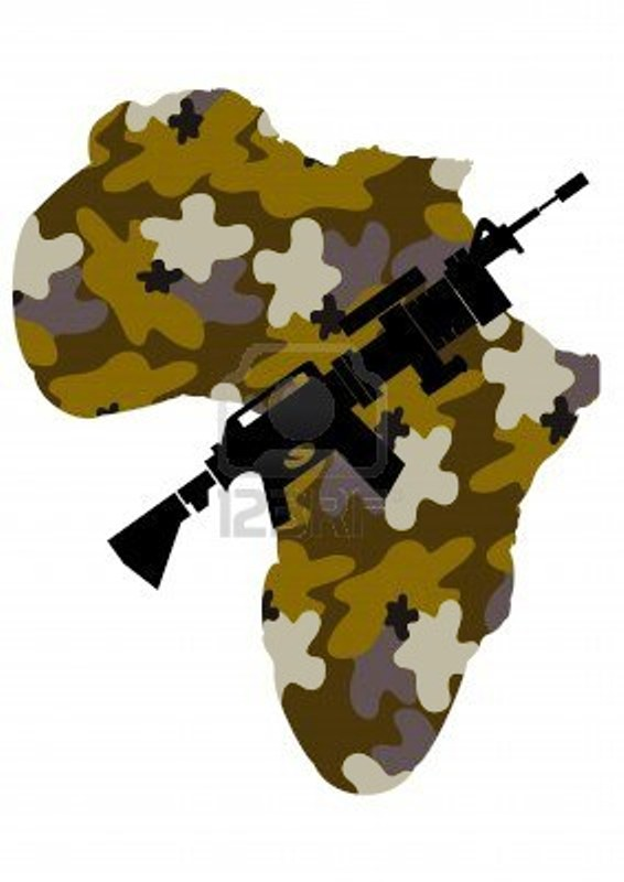die Kriegsführung in Afrika