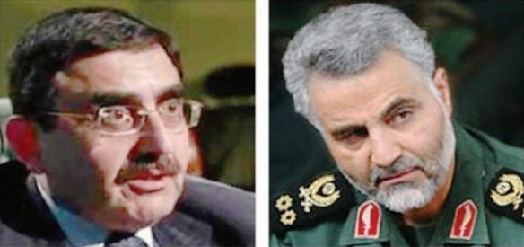 links Issam Haddad_rechts Qassem Suleimani