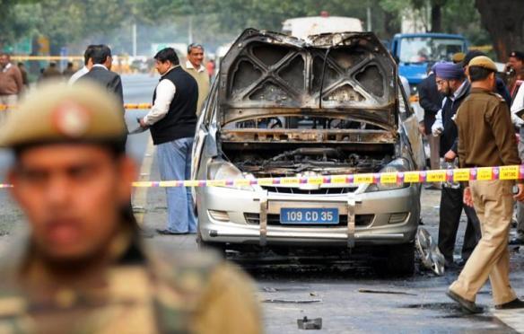 Autoexplosion in Neu Delhi
