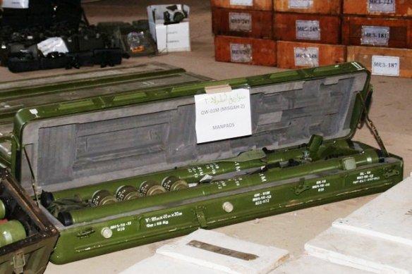 Einigen Waffen, die vor der Küste Jemens vom Segelschiff Dhahu beschlagnahmt wurden - Bildquelle_Reuters
