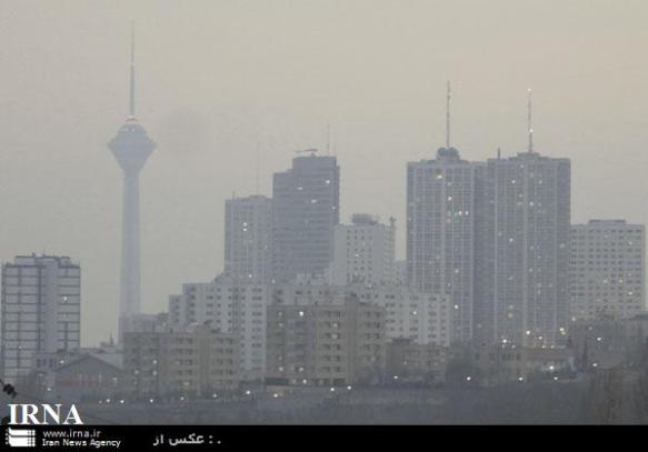 die Luftverschmutzung in Teheran