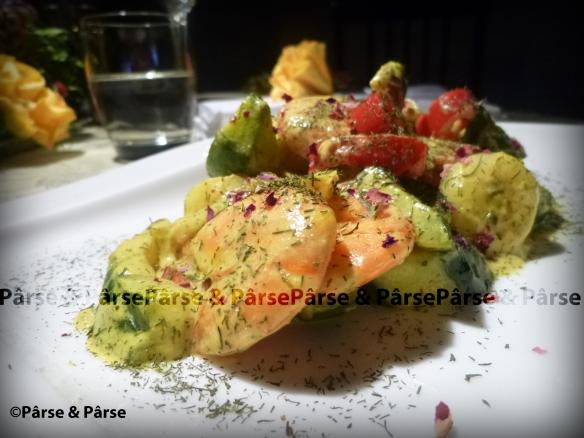 Hummerkrabben in Dill-Curry Gurkengemuese_wz