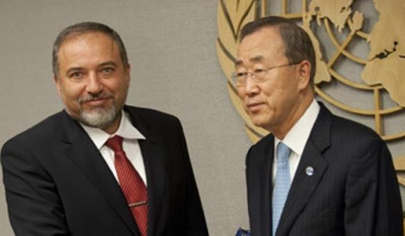 Avigdor Lieberman und Ban Ki-moon ©AFP