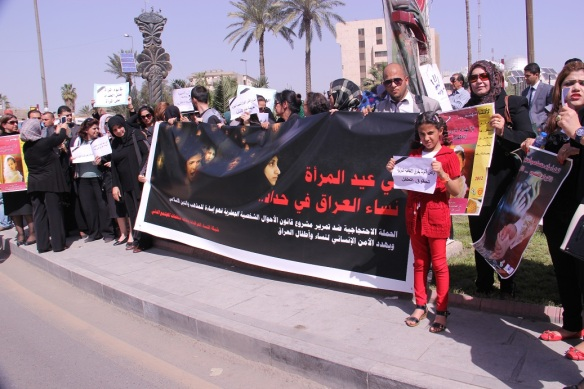 Proteste in Irak am Internationalen Frauentag am 08. März 2014