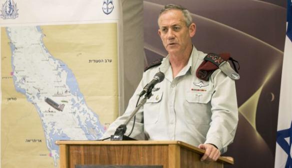 Foto: AFP  Lieutenant Benny Gantz bei einer Pressekonferenz am 05. März 2014 bei einem Briefing der Presse hinsichtlich der Ereignisse im Roten Meer