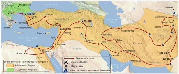 Abb. 2 Alexanders Raubzug durchs Persien