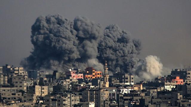 conflicto entre Israel y Gaza al este de la guerra de mediana