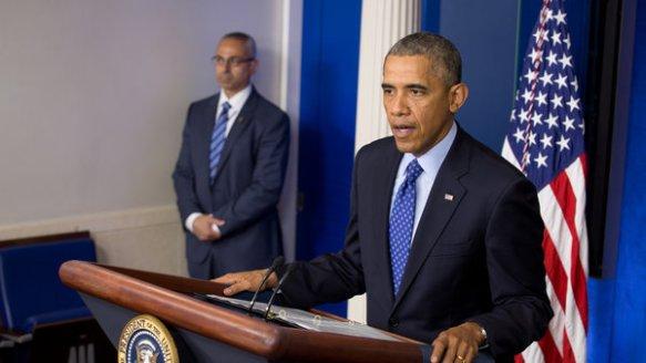 Obama diskutiert Irans Deklaration in Irak zu intervenieren