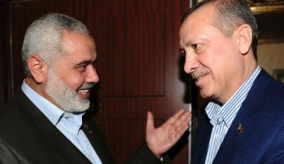 Hamas  Ismail Haniyeh und Recep Tayyip Erdogan, Jan. 1, 2012. Foto AP