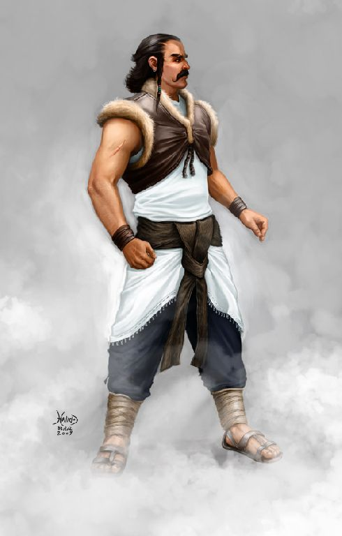 Abb.1: Der heldenhafte Spandyād, der Sohn des Wištāsp Šāh