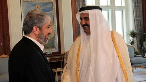 Bildquelle: tagesschau.de Hamas Führer Khalid Mashal und der Emir von Katar