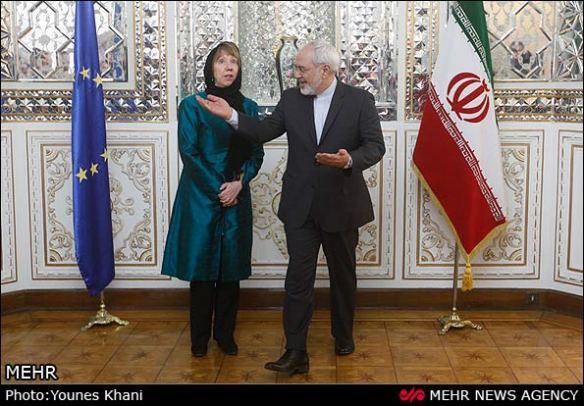 EU Aussenbeauftragte Catherine Ashton und Irans Außenminister Javad Zarif