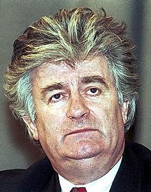 Radovan Karadžić während eines Besuchs in Moskau 1994