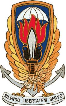 """Bildquelle: Wikipedia Wappen & Leitmotto der italienischen Einheit Gladio : """"Durch Schweigen bewahre ich die Freiheit"""""""