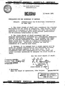 Bildquelle: www.gwu.edu Freigegebenes Dokument zu Operation Northwoods