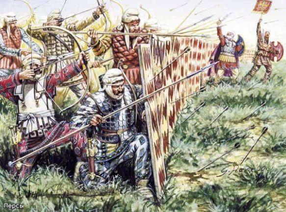 Angriff eines persischen Heeres