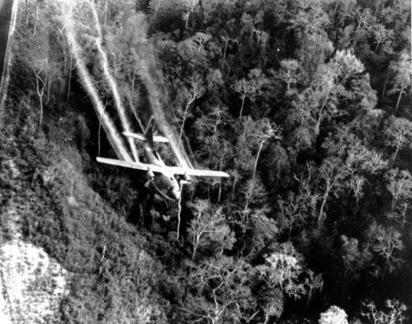Bildquelle: AP/ DoD US-Einheiten setzen Entlaubungsmittel ein, um die Verstecke des Feindes im dichten Dschungel aufzuspüren. Der als