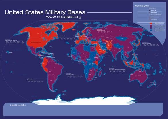 US Militärbasen auf der Erde