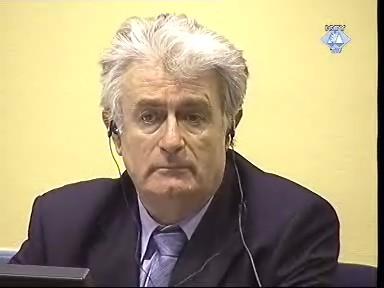 Radovan Karadžić: gegen ihn werden in Den Haag von der Anklage sogenannte Beweise angeführt, die noch niemand zu Gesicht bekommen hat.