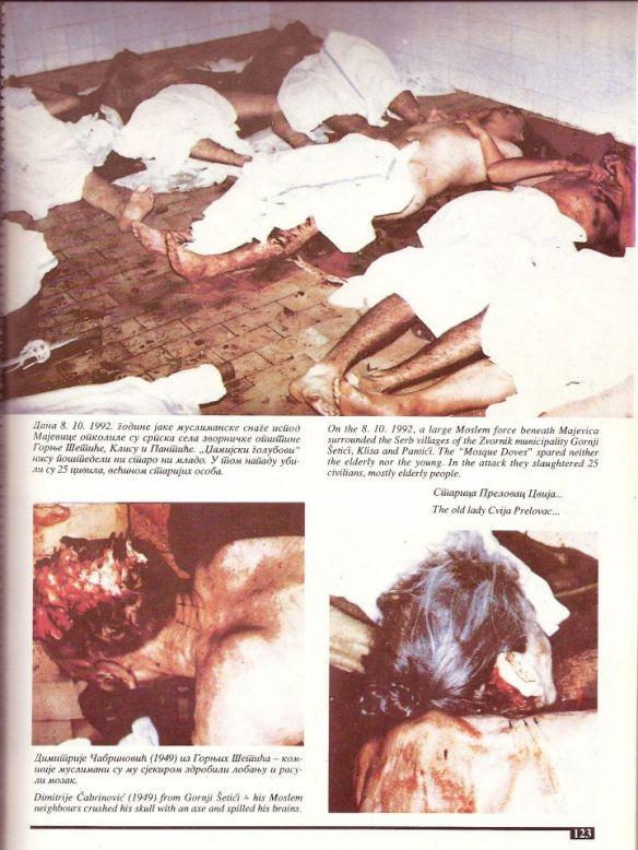 Während der Überfälle der moslemischen Armee aus Srebrenica wurden ganze serbische Dörfer ausgerottet