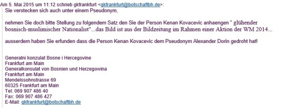 Email 4 aus dem Generalkonsulat von Busnien und Herzegowina
