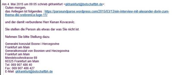 Email 2 aus dem Generalkonsulat von Busnien und Herzegowina