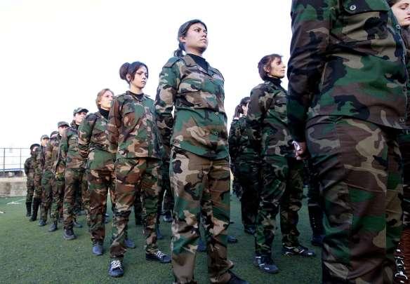 Rekrutinnen in der Assad-Armee. Bildquelle rp-online.de