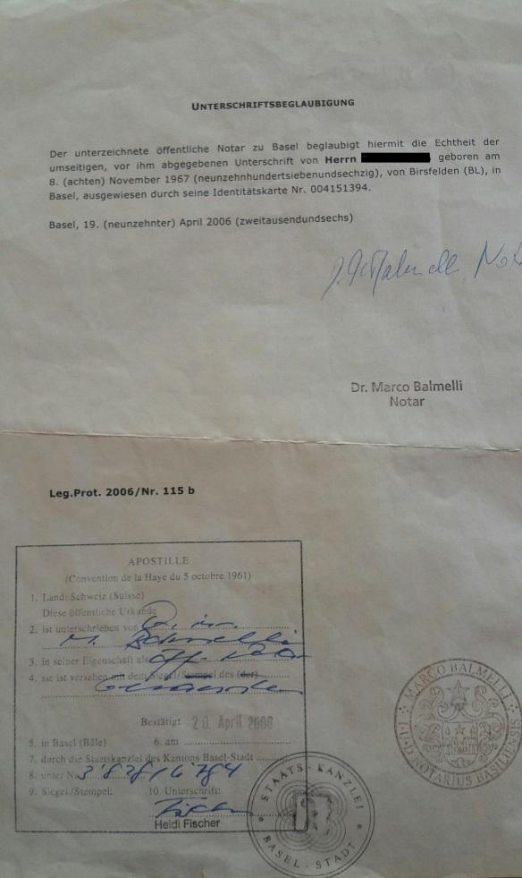 Vollmacht Kontoauflösung Belgrad 2