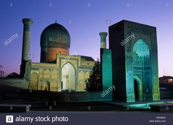 gur-emir-mausoleum-the-tomb-of-tamerlane-samarkand-uzbekistan-DRW8P2