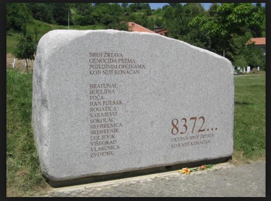 Gedenkstein in Potocari