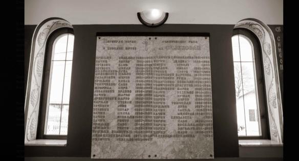 Sijekovac Gedenkplatte